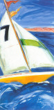 Yellow Sail Boat Prints by  Cruz