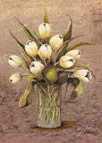 White Tulips in Crystal Prints by L. Romero
