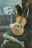 老いたギター弾き(The Old Guitarist, c.1903) 高品質プリント : パブロ・ピカソ
