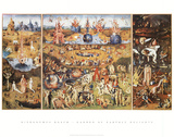Hieronymus Bosch - The Garden of Earthly Delights, 1504 Plakát
