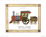 Mechanical Locomotive Prints by Isabelle De Bercy