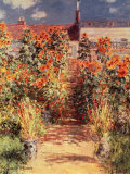 Garden at Vetheuil Art by Claude Monet