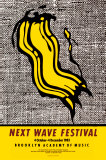 New Wave Festival Poster van Roy Lichtenstein