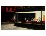 Yökyöpelit, n. 1942 Julisteet tekijänä Edward Hopper