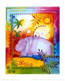 Jungle IV, Hippo Print by B. Meunier