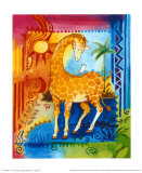 Jungle II, Giraffe Poster by B. Meunier