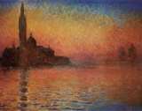 San Giorgio Maggiore by Twilight, c.1908 Posters by Claude Monet