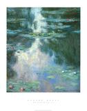Waterlilies II Posters van Claude Monet