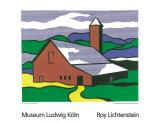 Roy Lichtenstein - Red Barn II, 1969 - Serigrafi