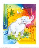 Jungle I, Elephant Prints by B. Meunier