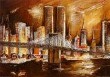 Les Twin Towers vues de l'Hudson Posters par Andrea Lotte