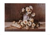 Blumen am Fenster Kunstdruck von Angela Vernetti