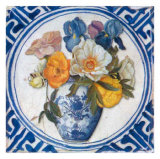 Flowers and Blue China IV Prints by Walter Perugini