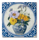 Flowers and Blue China II Print by Walter Perugini