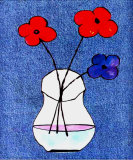 Flowers in Jeans I Prints by J. Clark