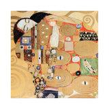 Fulfillment, Stoclet Frieze, c.1909 (detail) Affischer av Gustav Klimt