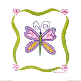 Lovebugs, Butterfly Print by Tania Schuppert