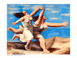Two Women Running on a Beach Kunstdrucke von Pablo Picasso