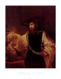 Aristotle with a Bust of Homer, Art Print, Rembrandt van Rijn