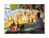 Tarde de domingo en la isla de la Grande Jatte, ca. 1886 Láminas por Seurat, Georges