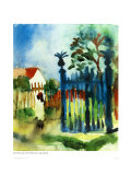 Garden Gate Art by Auguste Macke
