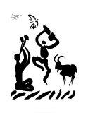 Joueur de flûte Posters par Pablo Picasso
