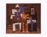 Three Musicians, c.1921 Posters av Pablo Picasso