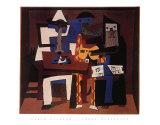 3人の音楽家 高品質プリント : パブロ・ピカソ