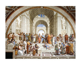 Die Schule von Athen, ca. 1511 (Detail) Kunstdrucke von  Raphael