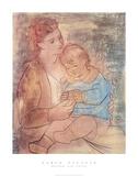 Madre con bambino Stampa di Pablo Picasso