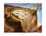 Weiche Uhr im Moment ihrer ersten Explosion, ca. 1954 Kunst von Salvador Dalí