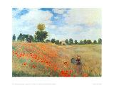 Campo de Papoulas, c.1886 Poster por Claude Monet