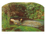 Ophelia Psters por John Everett Millais