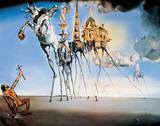 De verzoeking van Sint Antonius, ca. 1946 Print van Salvador Dalí