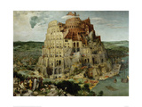 The Tower of Babel, 1563 Poster