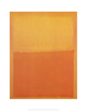 Orange and Yellow Affischer av Mark Rothko