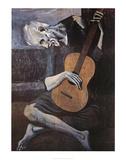 Viejo con guitarra, ca. 1903 Láminas por Pablo Picasso