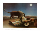 Sleeping Gypsy, 1897 Plakater af Henri Rousseau