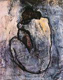 Pablo Picasso - Modrý akt, c. 1902 Plakát