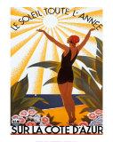 コートダジュール ポスター : ロジェ・ブロデール