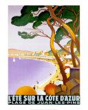 コートダジュールの夏 高品質プリント : ロジェ・ブロデール