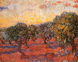 Olivenhain, ca. 1889 Kunstdruck von Vincent van Gogh