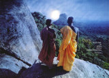 Forest Monks in Ceylon Art Print