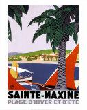 Sainte Maxime Poster von Roger Broders