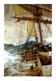 Vent montant Affiche par Montague Dawson