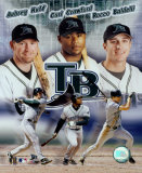 2004 Devil Rays Big 3 - Huff, Crawford, Baldelli &#169;Photofile Photo