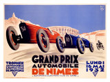 Grand Prix de Nimes, 1932 Giclee-trykk