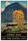 Storm King, New York Central Lines Giclee Print by Walter L. Greene