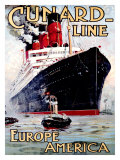 Cunard Line, Aquitania Giclee Print by Odin Rosenvinge