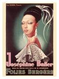 Josephine Baker - Giclee Baskı